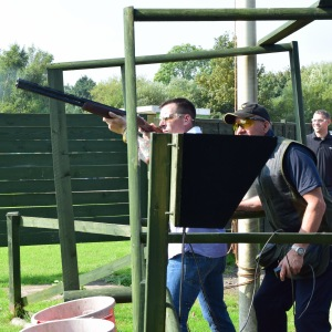 A day clay pigeon shooting for colleagues and customers