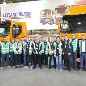 Apprentices visit Leyland production line