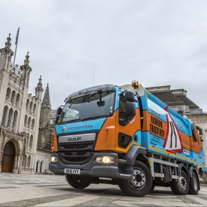 Axle conversion boosts DAF LF capability for NRG Fleet Services